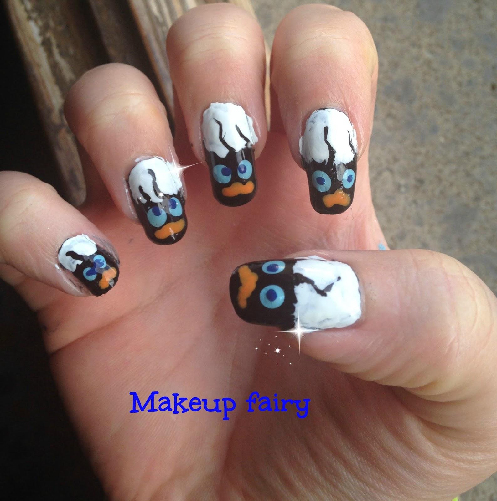 Tinklesmakeup: Calimero nail art
