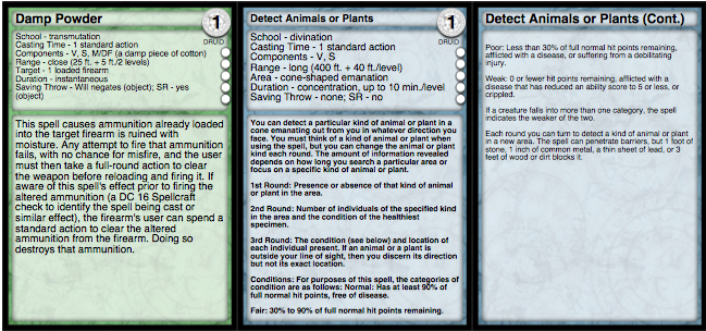 Playful image with pathfinder printable spell list