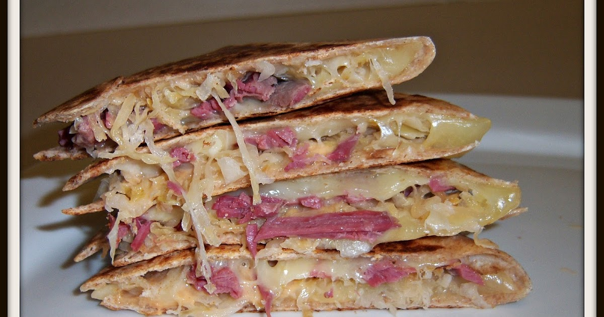 Cookaholic Wife: Reuben Quesadillas