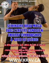 SMINAIRE / KRAV MAGA QUBEC /  DIMANCHE 12 JUIN (fini)