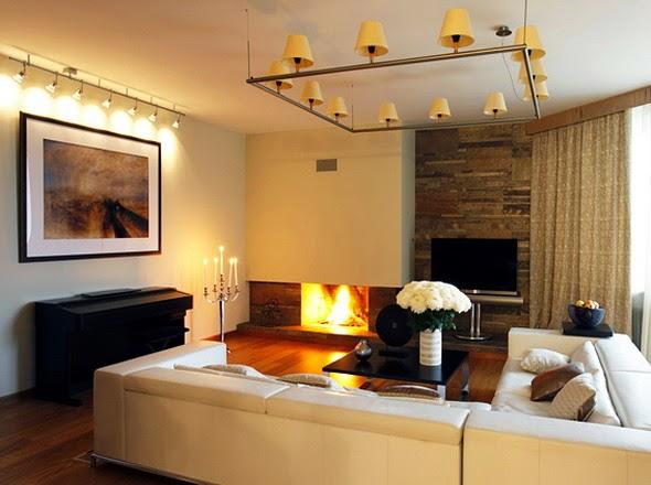 soggiorno con decorazioni moderni