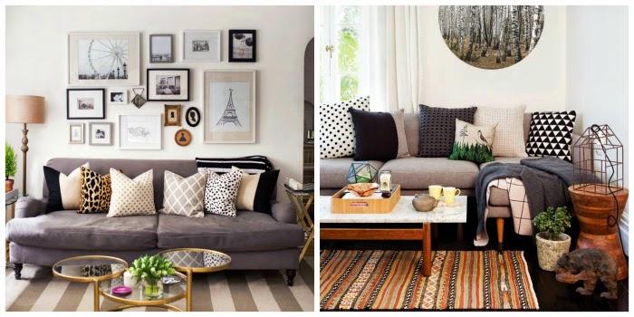 modern, monochromatic living room