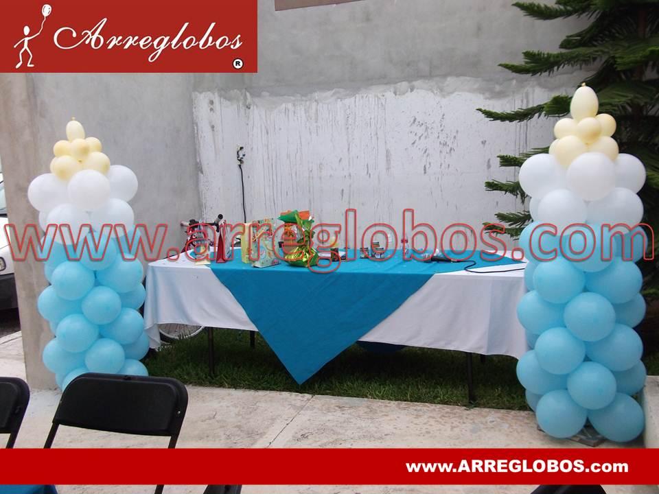 Decoraci n con globos para baby shower arreglobos - Decoracion baby shower nina sencillo ...