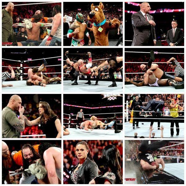نتائج وتقرير عرض الرو بتاريخ 25/3 Raw+Summary