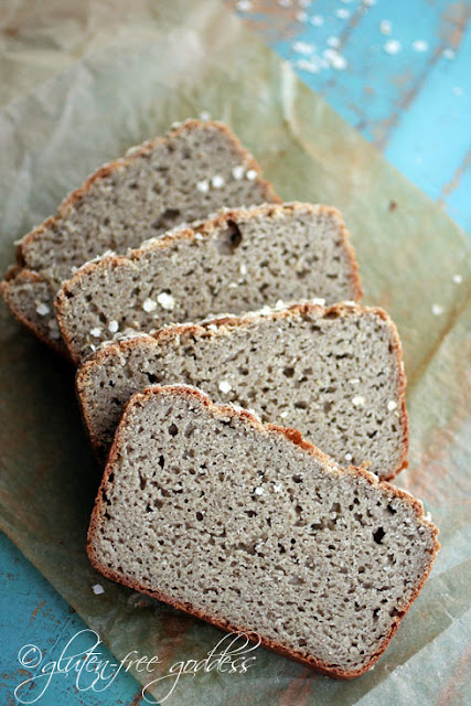 Slices of fresh from the oven whole grain gluten free bread