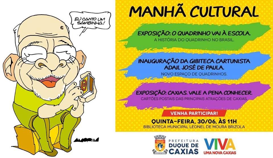 """""""Homenagem a Adail"""" - Biblioteca Municipal Leonel Brizola - Duque de Caxias, RJ (2016)"""