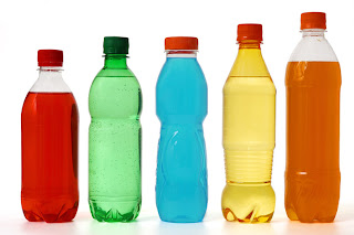 Variety of juices, sports drinks and sodas - be wary of the sugar and calories that may be in these and other beverages