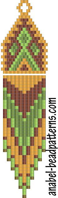схемы бисероплетение серьги мозаика кирпичиком free beading pattern