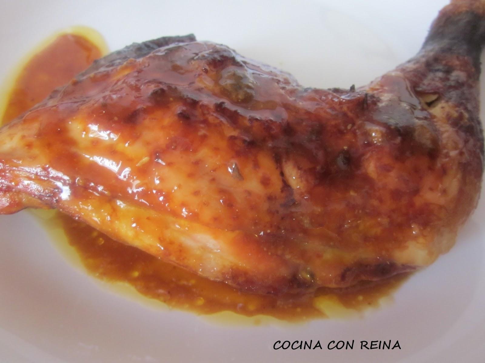 Muslos de pollo con salsa agridulce cocina con reina for Muslos pollo en salsa