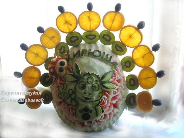 фруктовая композиция лунтик карвинг арбуз