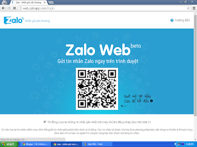 Chat Zalo tren Web