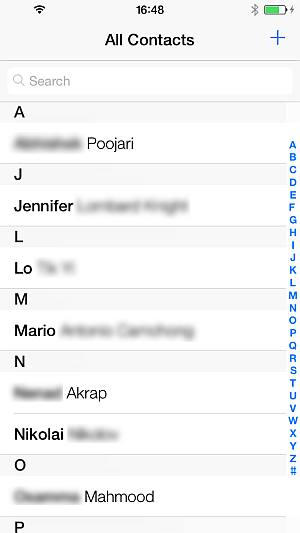 outlook contacts transferred to iphone