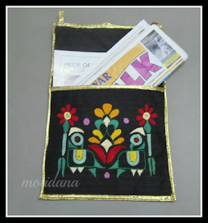 Perky little parrot , Indian Embroidery