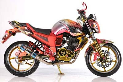 Modifikasi Yamaha Byson Airbrush