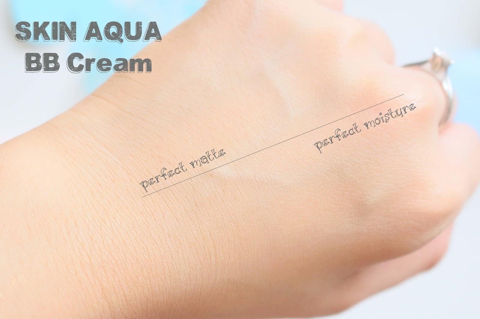 skin aqua, bb cream, makeup, review, japan, everyday, perfect matte, perfect moisture, swatches