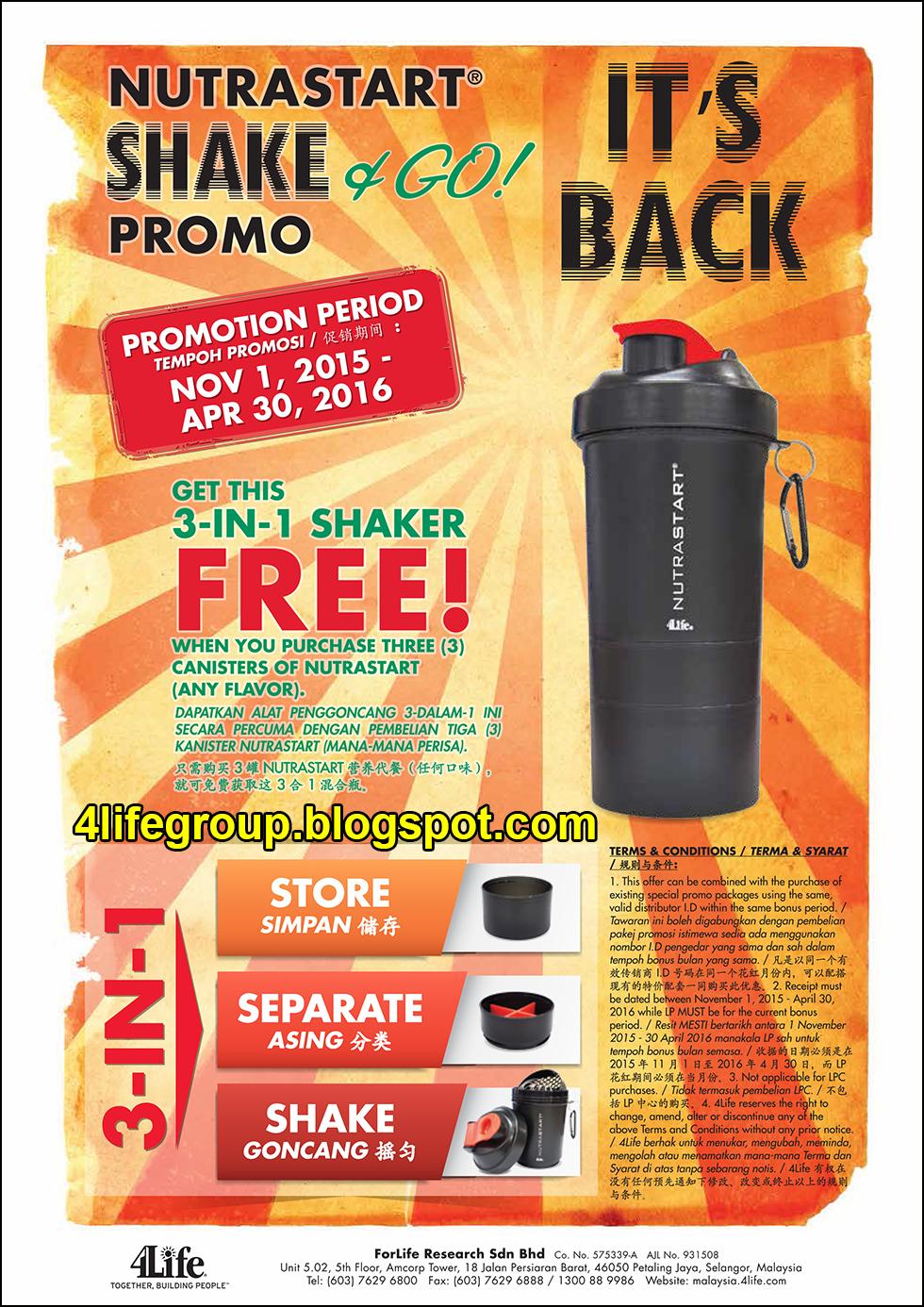 foto NutraStart Shake & Go Promo