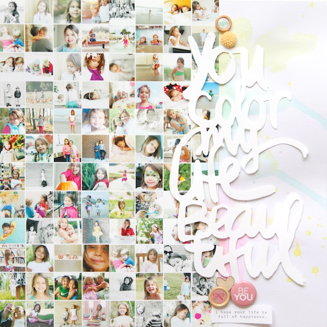 Stephanie makes you color my life beautiful for Color collage ideas