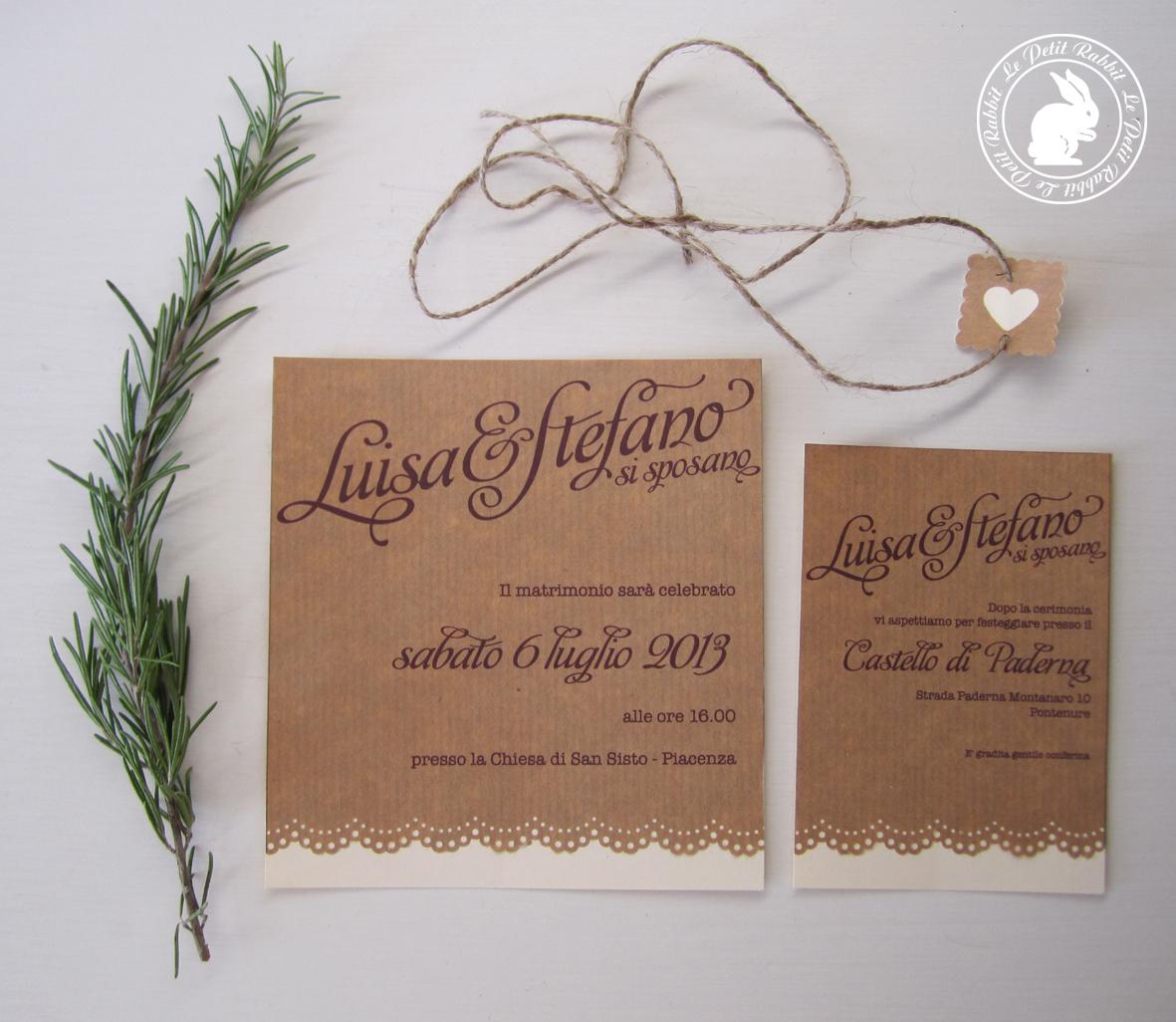 Partecipazioni Matrimonio Rustico : Le petit rabbit wedding suite rustico chic