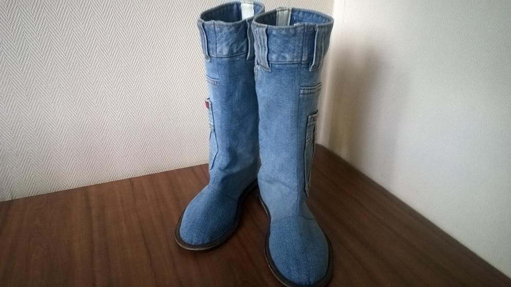 сапоги из старых джинсов выкройки
