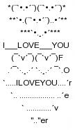 Tin nhắn sms xếp hình tình yêu