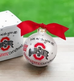 Ohio State Buckeyes NCAA We Wish You Ornament