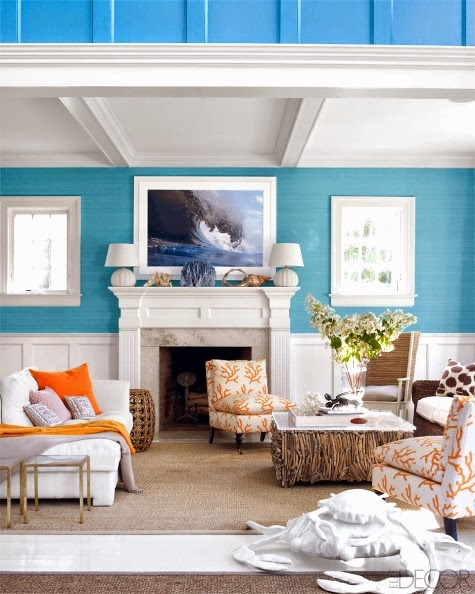 colorful beach house in the hamtons