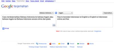 ke Bahasa Indonesia – Cara Mudah Menterjemah Inggris ke Bahasa