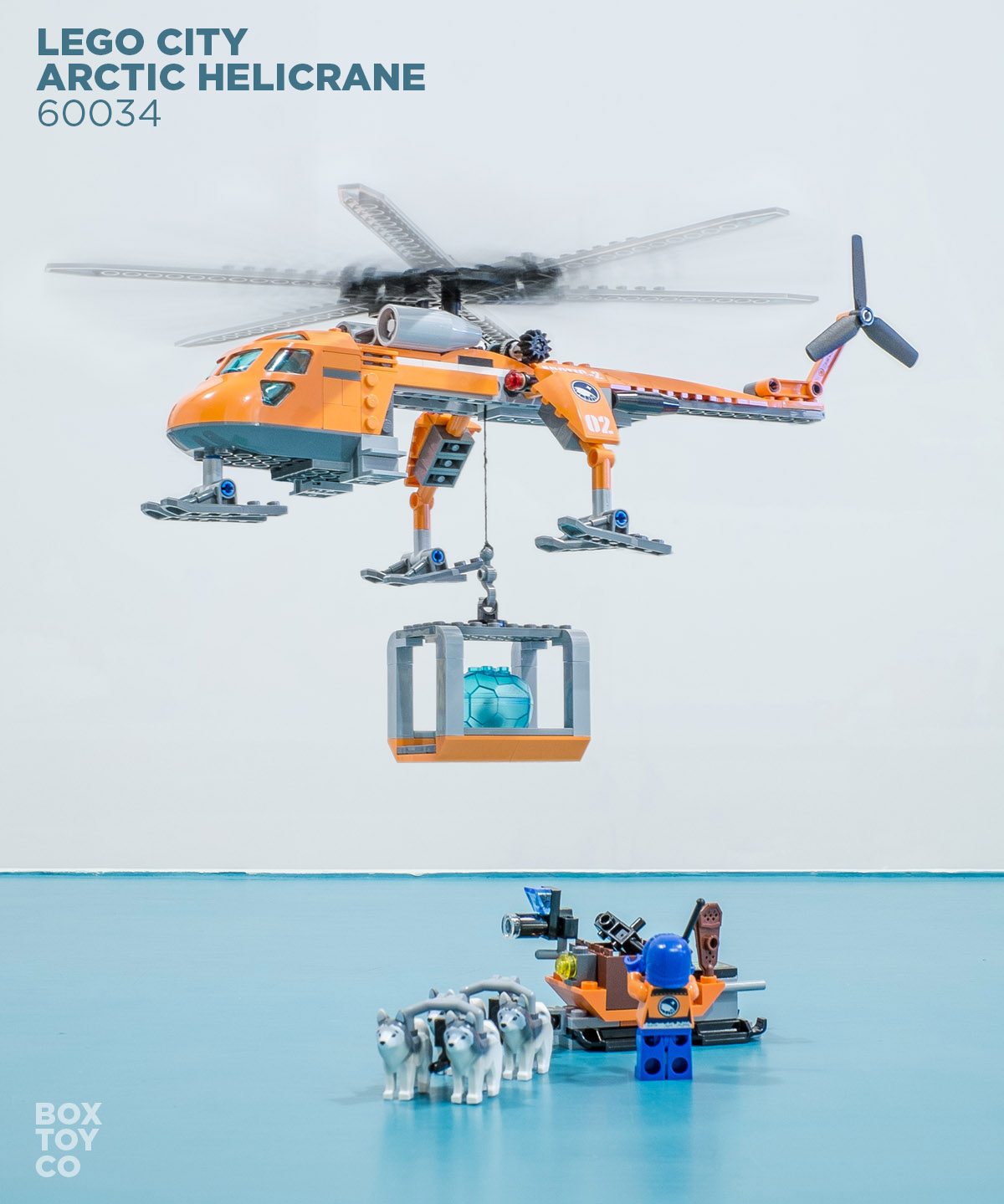 A regular day for the lego arctic helicrane 60034 team