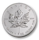 Silver Maple Leaf coin bullion
