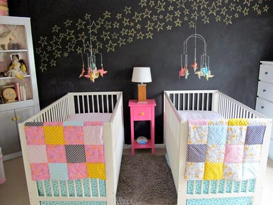 Dormitorio de bebes dormitorio para bebes gemelos cunas - Habitaciones para gemelos ...