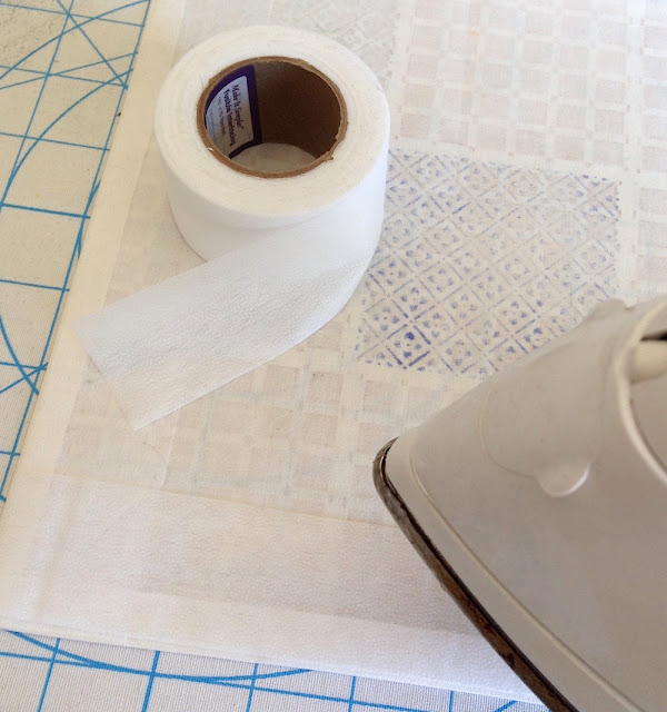 fusible tape on fabric edges