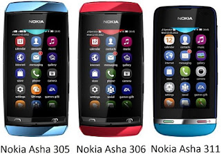 Nokia Asha 305, 306 and 311 coming in india