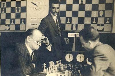 Partida Alexander Alekhine - Andreu Muñoz en el IV Torneo Internacional de Ajedrez de Sabadell 1945