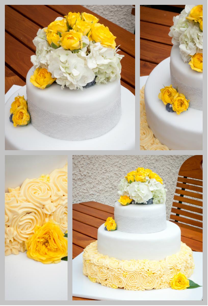 Torten Kreativ Der Gelb Graue Faden Hochzeitstorte