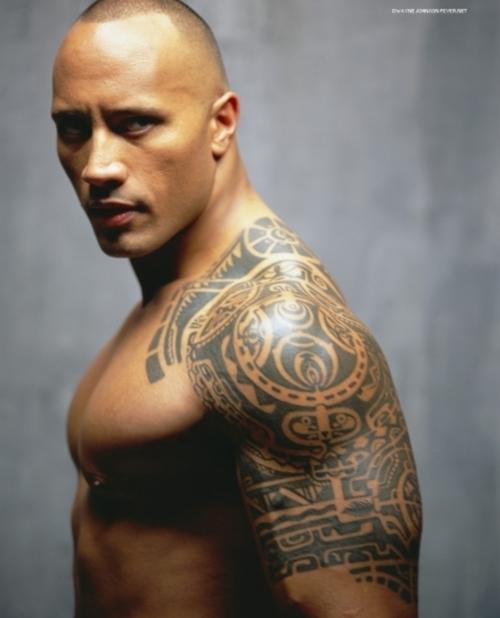tattoo: WWE Superstar The Rock Tattoos - Dwayne Johnson Tattoos