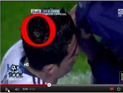 Tulisan Lafadz Allah di Kepala Christiano Ronaldo