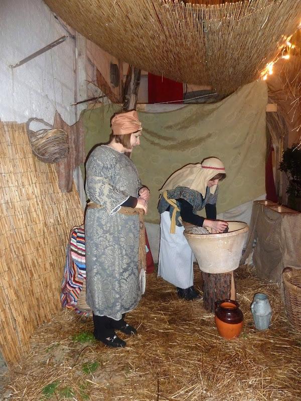 Wäscherinnen beim Krippenspiel (Apulien)