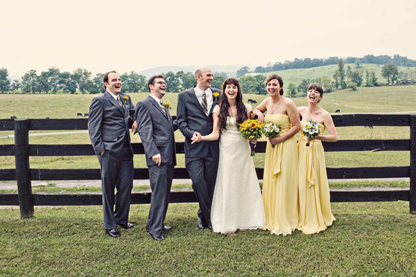 yellow-chiffon-bridesmaids-dresses