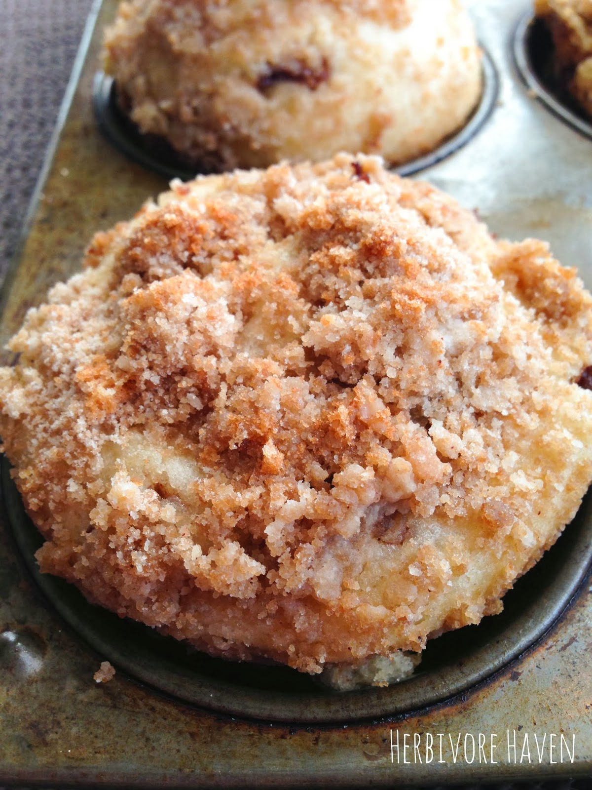 Herbivore Haven: Cinnamon Swirl Coffee Cake Muffins