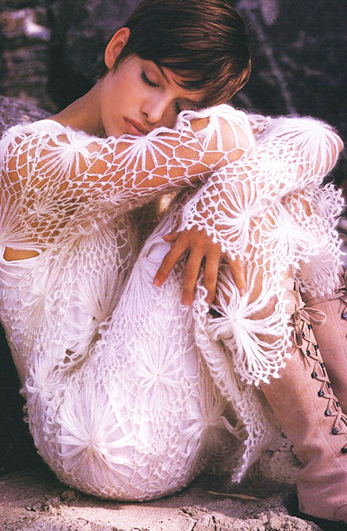 via fashioned by love | Miranda Kaha by Gilles Bensimon in Elle US September 1993