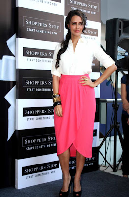 neha dhupia at shoppers stop gift card launch cute stills