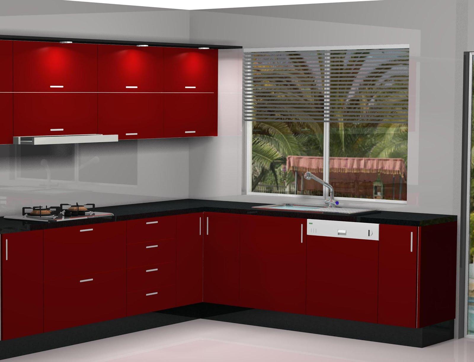 Cuisines tanger dise o de cocina en madera postformada y - Cocinas color burdeos ...