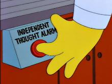 Alarma de pensamiento independiente