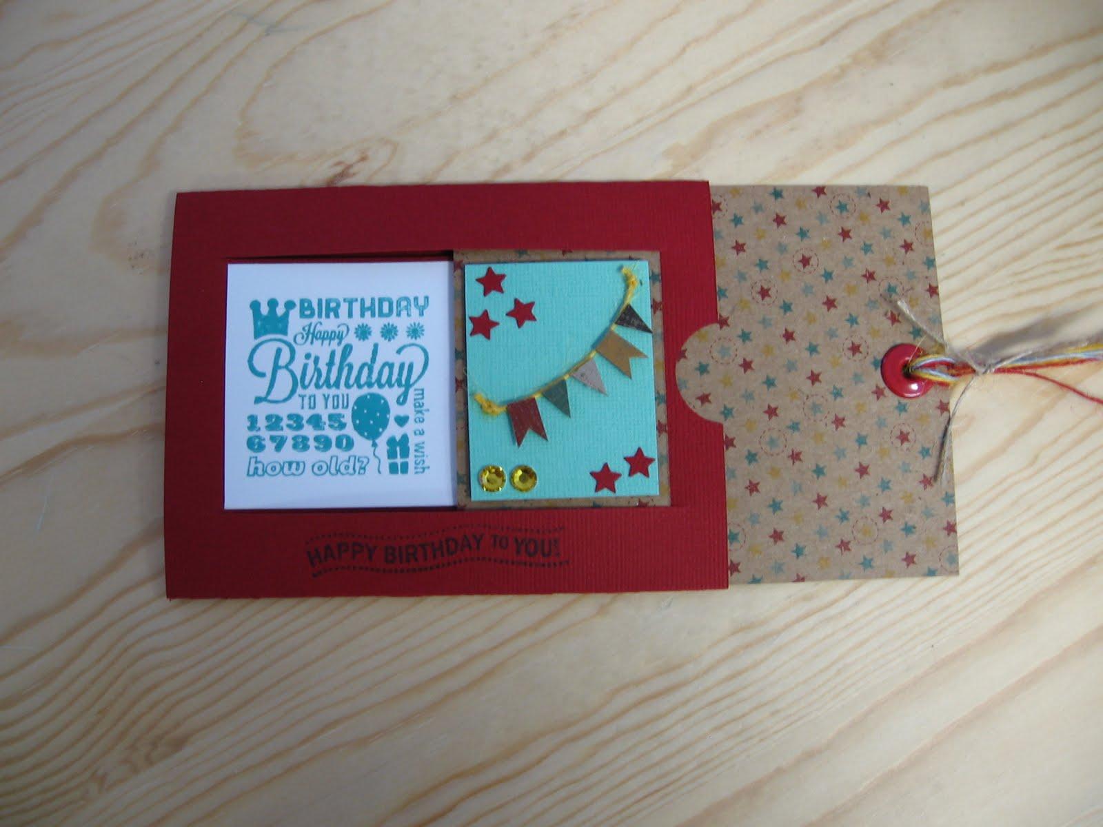 My Stamping Studio BIRTHDAY CARD WORKSHOP