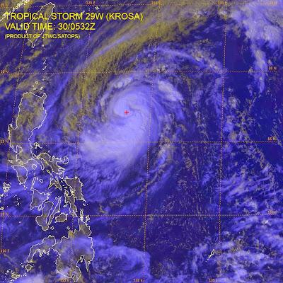 Tormenta tropical Krosa 30 de Octubre 2013
