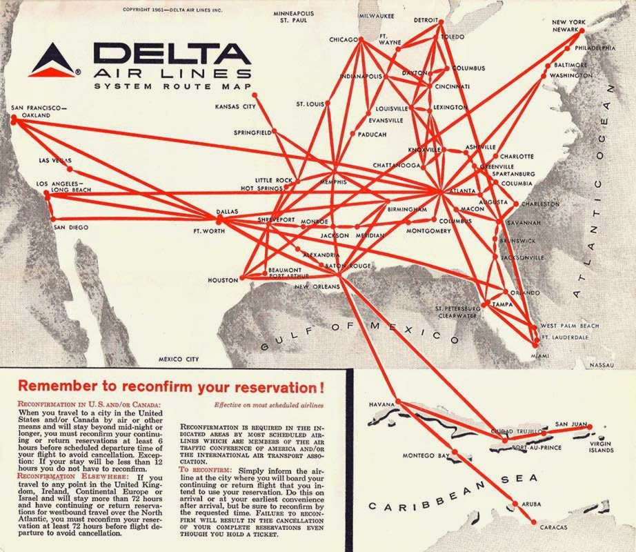 An Old Delta Air Lines Route Map I Found Online The Map In The Rendezvous Is Pretty Much Identical In Color And Composition Although Only Displayed Only