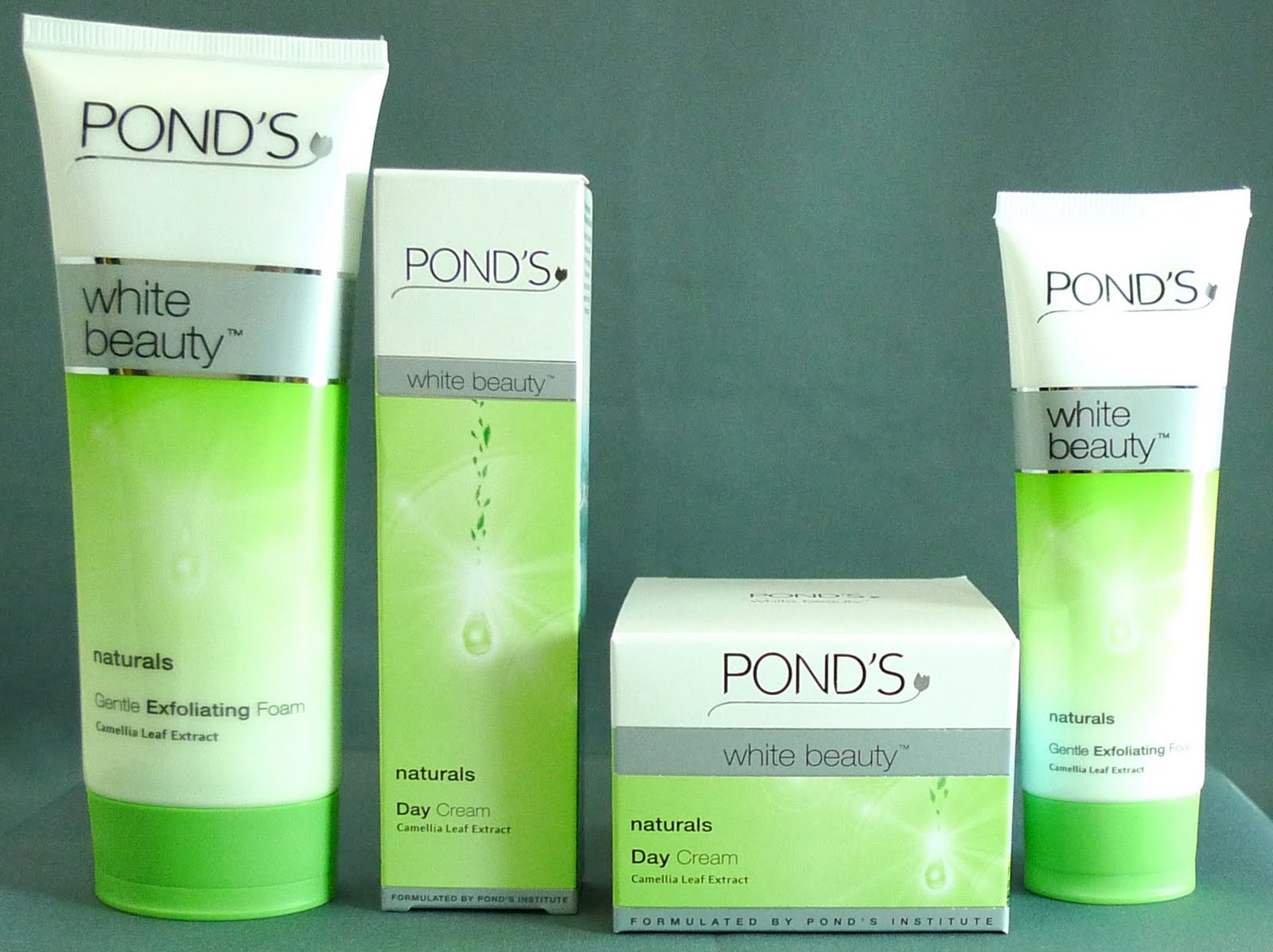 Review pond 39 s naturals white beauty line with camellia for Ponds products