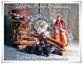 200th Post Giveaway Tattered Sisters