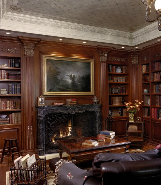 Interior exterior design ideas classic office and library ideas Traditional home library design ideas