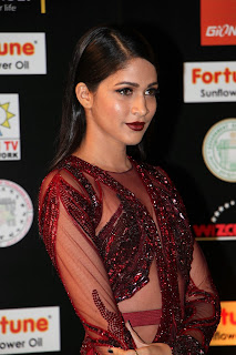 Lavanya Tripathi in Lovely floor length transparent Red Long Evening Gown Spicy Pics